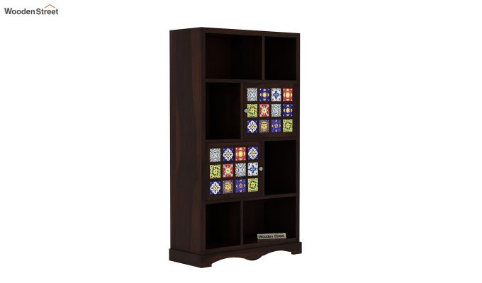 Boho Book Shelf (Walnut Finish)-2