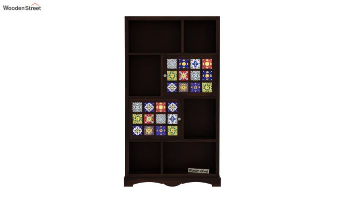 Boho Book Shelf (Walnut Finish)-3
