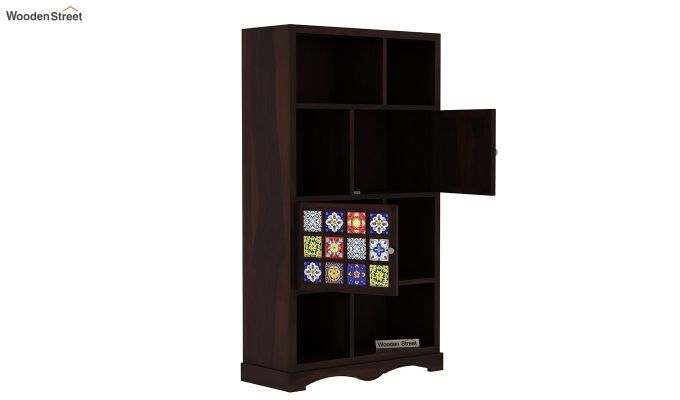 Boho Book Shelf (Walnut Finish)-4