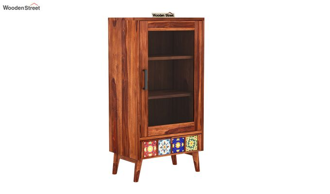 Boho Small Size Bookshelf (Honey Finish)-2