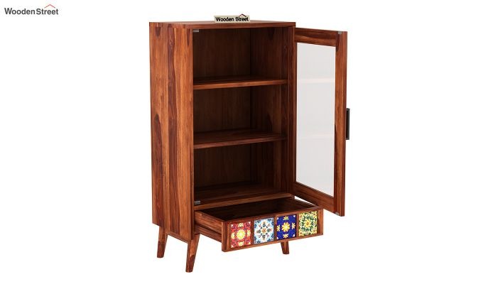 Boho Small Size Bookshelf (Honey Finish)-4