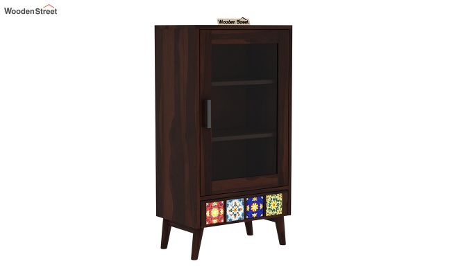 Boho Small Size Bookshelf (Walnut Finish)-2
