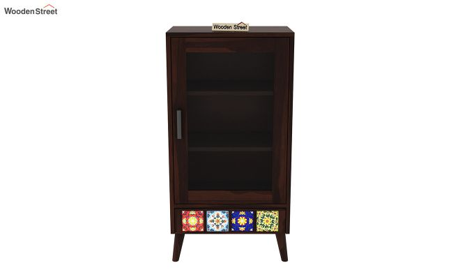 Boho Small Size Bookshelf (Walnut Finish)-3