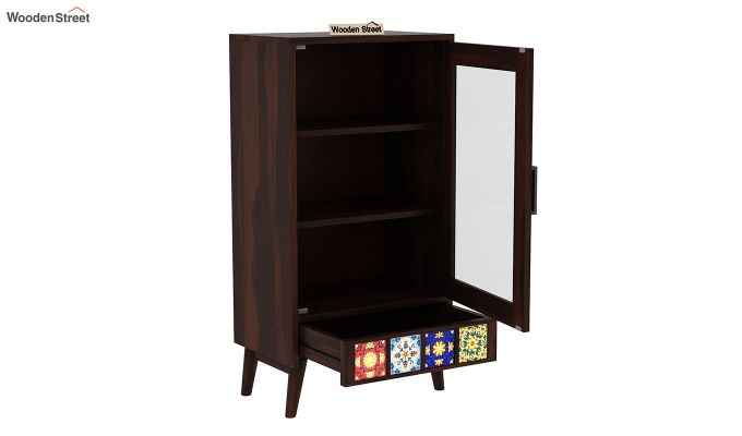Boho Small Size Bookshelf (Walnut Finish)-4