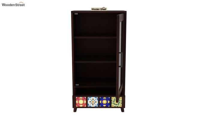 Boho Small Size Bookshelf (Walnut Finish)-5
