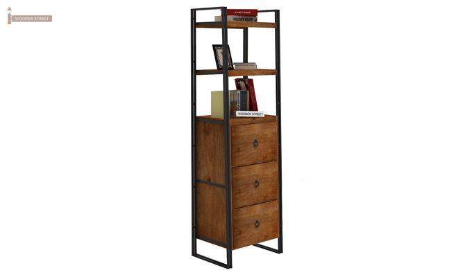 Bron Loft BookShelf  With Storage (Teak Finish)-2