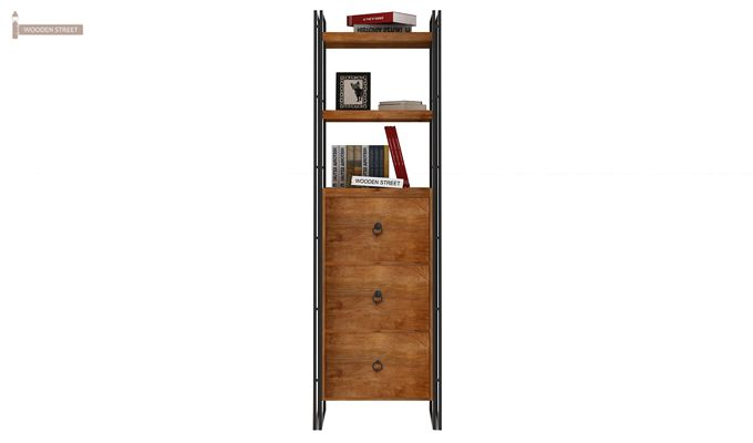 Bron Loft BookShelf  With Storage (Teak Finish)-3