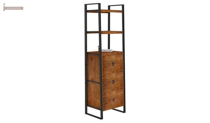 Bron Loft BookShelf  With Storage (Teak Finish)-4