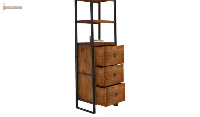 Bron Loft BookShelf  With Storage (Teak Finish)-5