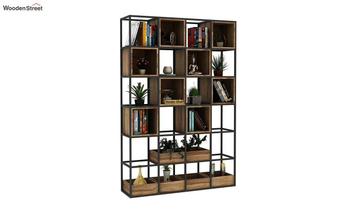 Bryan Loft Multi Purpose BookShelf (Natural Finish)-2