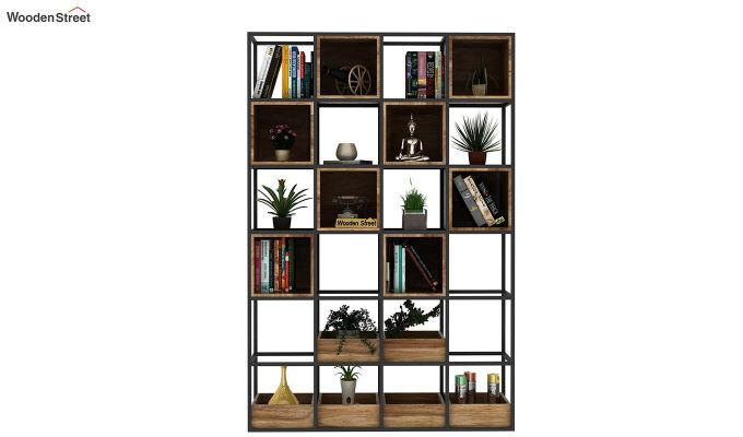 Bryan Loft Multi Purpose BookShelf (Natural Finish)-3