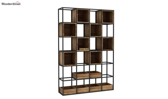Bryan Loft Multi Purpose BookShelf (Natural Finish)-4