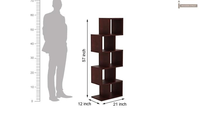 Cagney Book Shelves (Mahogany Finish)-7
