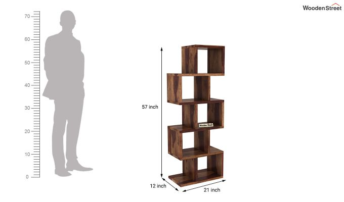 Cagney Book Shelves (Teak Finish)-4