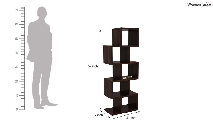 Cagney Book Shelves (Walnut Finish)-4