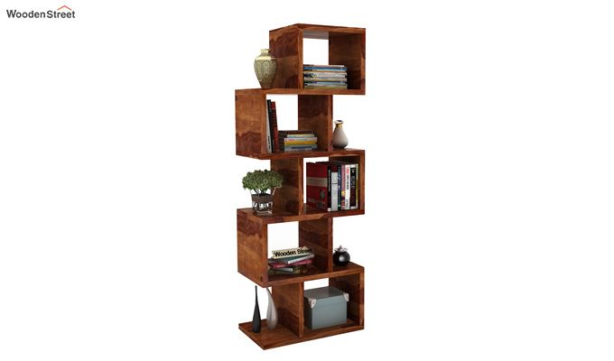 Cagney Book Shelves (Teak Finish)-1