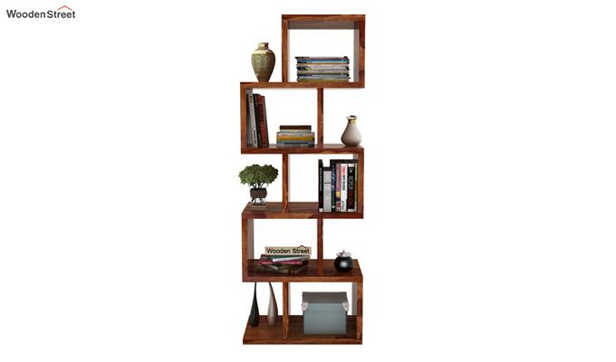 Cagney Book Shelves (Teak Finish)-2