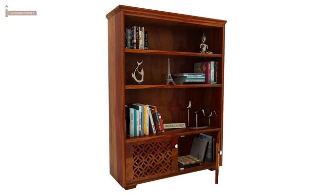 Cambrey Book Shelves (Honey Finish)-4