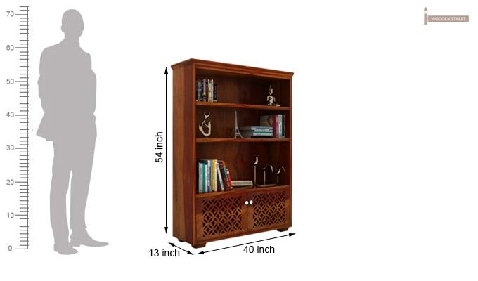 Cambrey Book Shelves (Honey Finish)-6