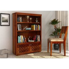 Cambrey Book Shelves (Honey Finish)