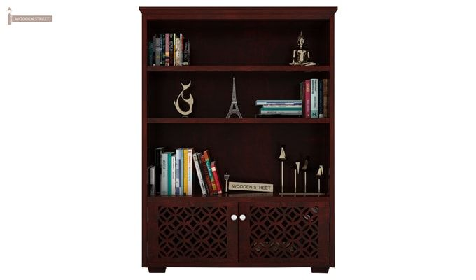 Cambrey Book Shelves (Mahogany Finish)-2
