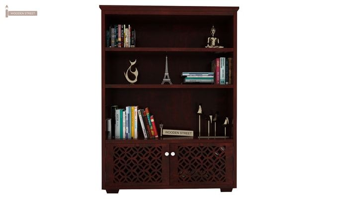 Cambrey Book Shelves (Mahogany Finish)-4
