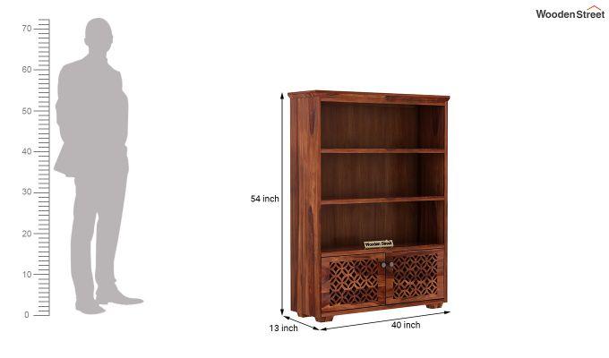 Cambrey Book Shelves (Honey Finish)-6