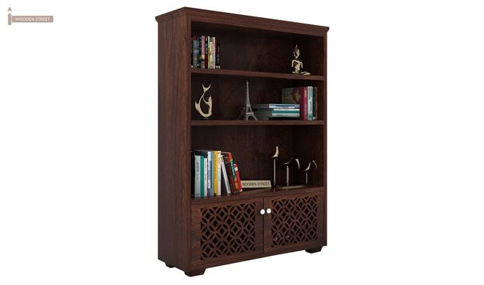 Cambrey Book Shelves (Walnut Finish)-1