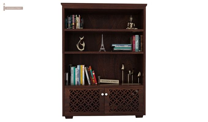 Cambrey Book Shelves (Walnut Finish)-4