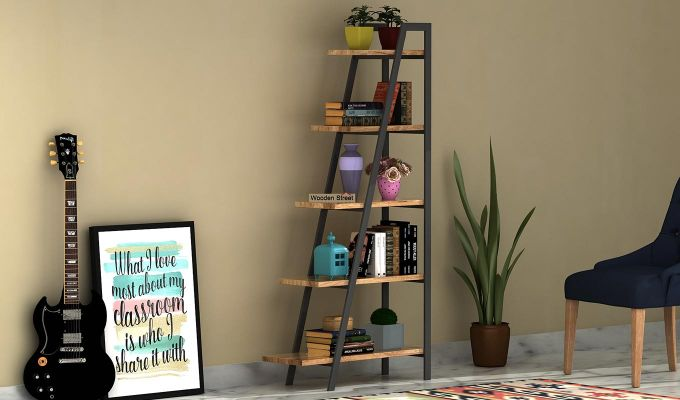 Carleson Loft BookShelf (Natural Finish)-1
