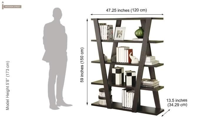 Cedric Bookshelf (Mahogany Finish)-3
