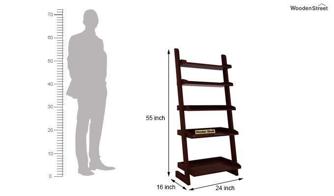 Celine Book Shelves (Mahogany Finish)-5