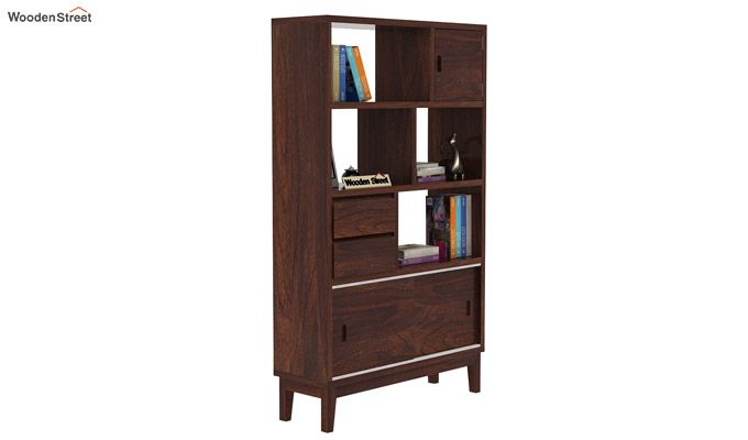 Chesny Bookshelf (Walnut Finish)-2