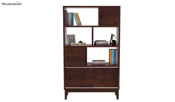 Chesny Bookshelf (Walnut Finish)-3