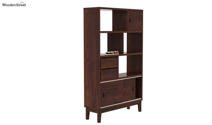 Chesny Bookshelf (Walnut Finish)-4