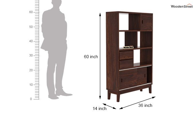 Chesny Bookshelf (Walnut Finish)-7