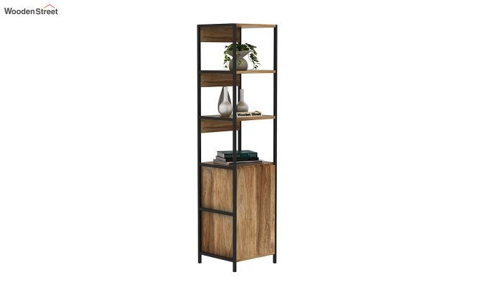 Delvin Loft BookShelf With Storage (Natural Finish)-2