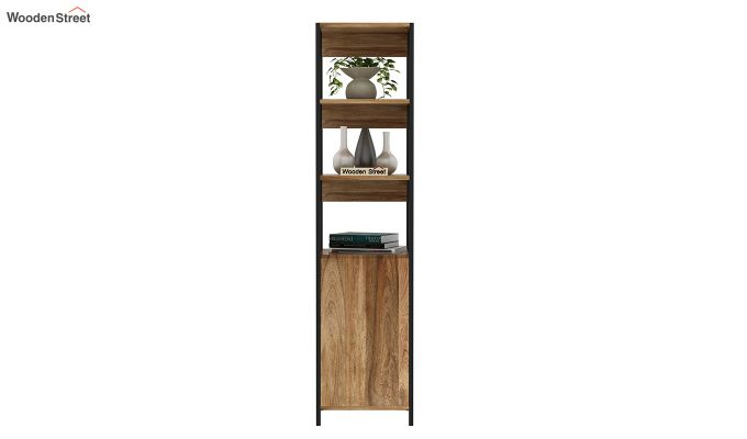 Delvin Loft BookShelf With Storage (Natural Finish)-3