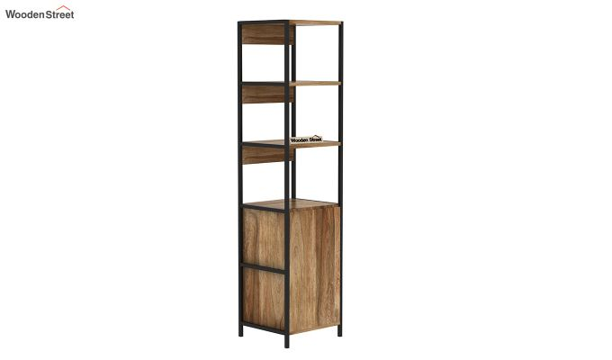 Delvin Loft BookShelf With Storage (Natural Finish)-4