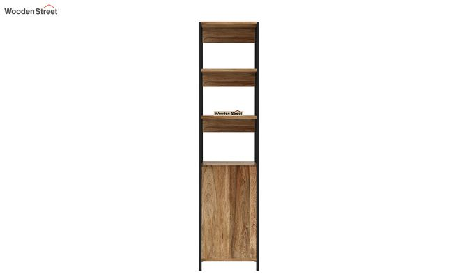 Delvin Loft BookShelf With Storage (Natural Finish)-5
