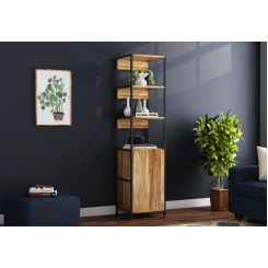 Delvin Loft BookShelf With Storage