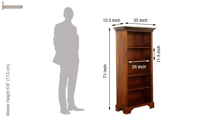 Dennis Bookcase (Walnut Finish)-10