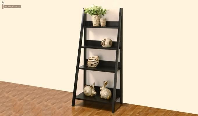 Donna Book Rack (Black Finish)-1