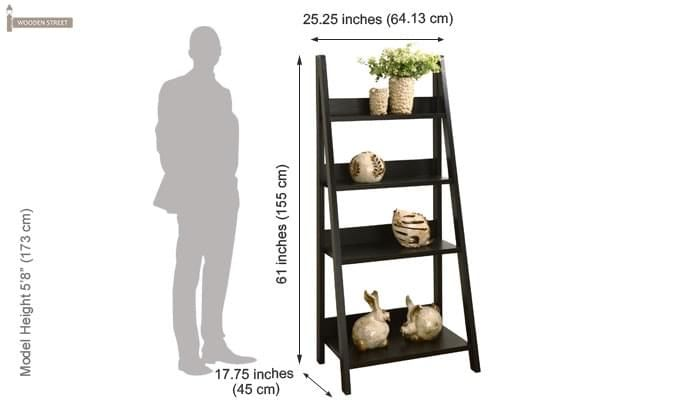 Donna Book Rack (Black Finish)-4