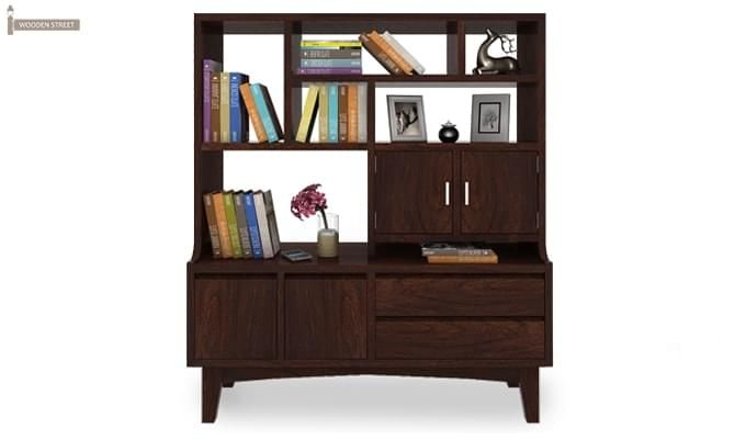 Elstre Bookshelf (Walnut Finish)-1