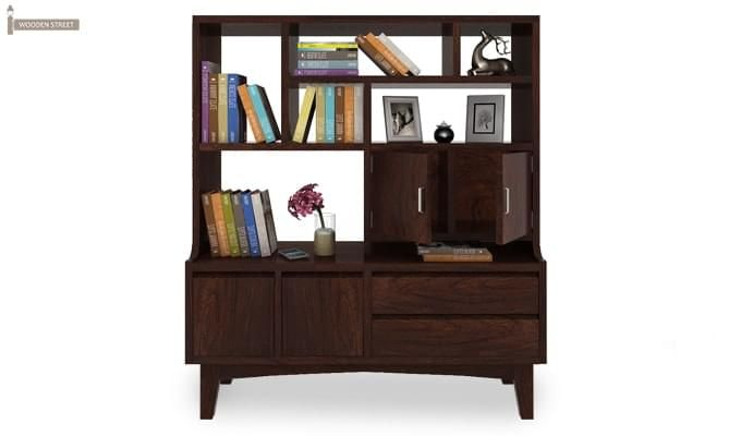 Elstre Bookshelf (Walnut Finish)-2