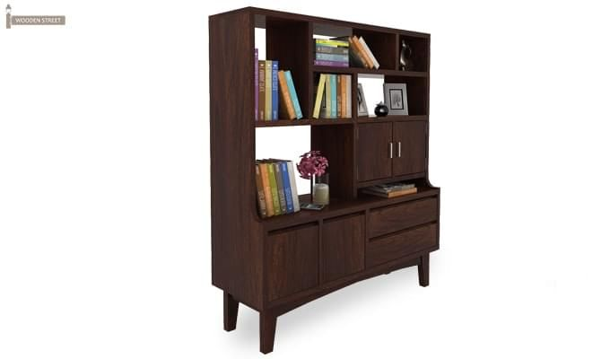 Elstre Bookshelf (Walnut Finish)-3