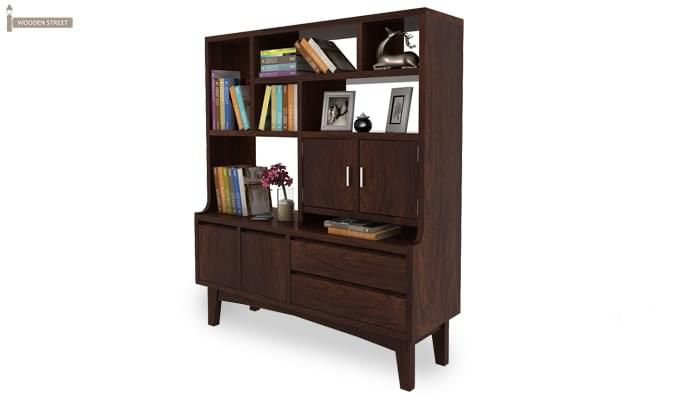 Elstre Bookshelf (Walnut Finish)-4