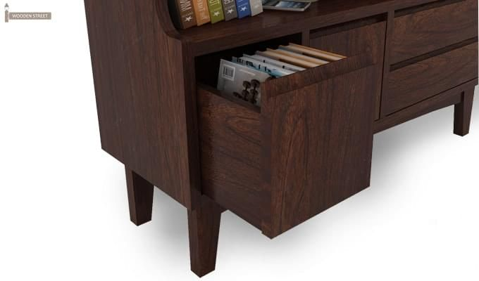 Elstre Bookshelf (Walnut Finish)-5