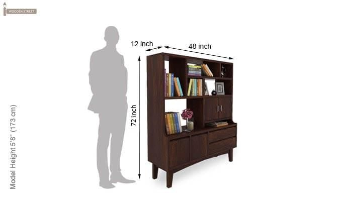 Elstre Bookshelf (Walnut Finish)-7